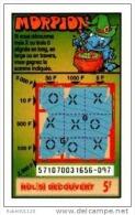90/   FRANCAISE DES JEUX      MORPION  SERIE  57107   Trait Bleu - Lottery Tickets