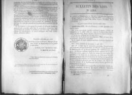 Bulletin Des Lois Du 6 Decembre 1845 – 169 Ans D'âge ! - Execution Des Conventions De Poste Conclues Entre La France Et - Décrets & Lois