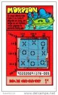101/   FRANCAISE DES JEUX     MORPION    93202    Trait   Bleu - Lottery Tickets