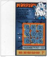 110/  FRANCAISE DES JEUX      MORPION  SERIE  93204  Trait Rouge - Lottery Tickets