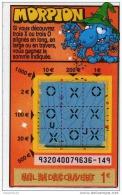 111/  FRANCAISE DES JEUX      MORPION  SERIE  93204  Trait Bleu - Lottery Tickets