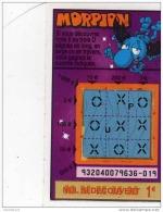 113/  FRANCAISE DES JEUX      MORPION  SERIE  93204  Trait Bleu - Lottery Tickets
