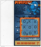 117/  FRANCAISE DES JEUX      MORPION  SERIE  93204  Trait Bleu - Lottery Tickets