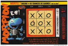 120/  FRANCAISE DES JEUX          MORPION   39301 - Lottery Tickets