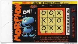 121/  FRANCAISE DES JEUX       MORPION   39301 - Lottery Tickets