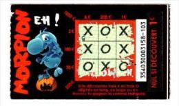 141/  FRANCAISE DES JEUX      MORPION  35403  Trait Bleu - Lottery Tickets