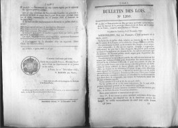 Bulletin Des Lois Du 19 Decembre 1845 – 169 Ans D'âge ! - Droits De Péage Du Pont Suspendu De Rémollon (Hautes-Alpes) - - Décrets & Lois