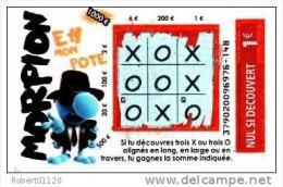 143/   FRANCAISE DES JEUX      MORPION  37902 - Lottery Tickets