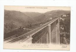 Cp , CHEMIN DE FER , Le Viaduc De Fades Vu Sur La Gare , Vierge , Ed : Béguin - Structures