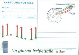 LUCCA - 11.11.11 -UN GIORNO IRRIPETIBILE  - CARTOLINA   POSTALE   CON SOPRASTAMPA PRIVATA - 1946-.. République