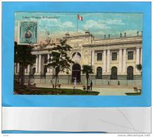 PEROU-LIMA-Camara de deputados  -la place anim�e - a circul� en 1924