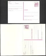 Deutschland Bund 1979 Burgen + Schlösser Schloss Rheydt 60 Pf. Postkarten P 135 I + Postkarte Mit Antwortkarte P 137 I - BRD