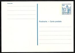 Deutschland Bund 1982 Burgen + Schlösser Wasserschloss Mespelbrunn 70 Pf. Postkarten P 136 I Mi 918 A I NEU - BRD