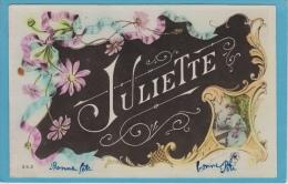 14 / 8 / 161   -  PRÉNOM  - J U L I E T T E     - Carte Fleurie - Vornamen