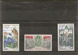 France 1968 Neuf 1577 - 1578 - 1579  Grands Noms De L'histoire - France