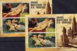 Rubens Kunstmuseum Wien Äq.-Guinea 292/3B+Block 79 ** Plus O 17€ Akt-Gemälde Bloque Ms Art Bloc Painting Sheet Bf Africa - Equatorial Guinea