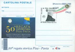 PISA - 50^ REGATA STORICA - CARTOLINA   POSTALE CON SOPRASTAMPA PRIVATA - 6. 1946-.. Repubblica