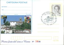 FOSCIANDORA - FESTA VINO A RIANA - CARTOLINA   POSTALE CON SOPRASTAMPA PRIVATA - 6. 1946-.. Repubblica