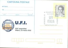 MILANO - XXX ASSEMBLEA UFI - CARTOLINA   POSTALE CON SOPRASTAMPA PRIVATA - 6. 1946-.. Repubblica