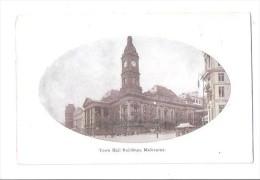 RP Melbourne Victoria TOWN HALL NO TRAM TROLLEY UNUSED MARLBOROUGH ART SERIES - Melbourne