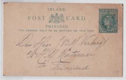 TRINIDAD AND TOBAGO - Entier Postal  - Used Postal Stationery - Inland Post Card Port Of Spain - Trinidad & Tobago (...-1961)