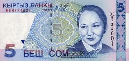 Kyrgyzstan 5 Som  1997  Pick 13 UNC - Kirghizistan
