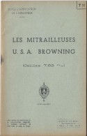 Manuel/ Ecole D´application De L´infanterie/Les Mitrailleuses USA Browning/Saint Maixent/ 1955  LIV50 - Books, Magazines  & Catalogs