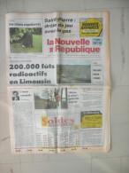 LA NOUVELLE REPUBLIQUE DU CENTRE 11 ET 12 JANVIER 1992  ( journal jour naissance )