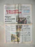 LA NOUVELLE REPUBLIQUE DU CENTRE 3 JUILLET 1989  ( journal jour naissance )