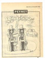 DESSIN DE PRESSE DE PEYNET Mars   1970 - Vieux Papiers