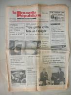 LA NOUVELLE REPUBLIQUE DU CENTRE 29 ET 30 SEPTEMBRE 1984  ( journal jour naissance )