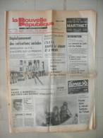 LA NOUVELLE REPUBLIQUE DU CENTRE 28 SEPTEMBRE 1984  ( journal jour naissance )