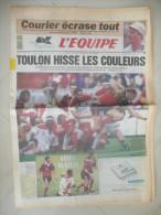 L'EQUIPE 8 JUIN 1992  ( journal jour naissance ) RUGBY TOULON