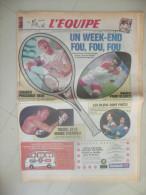 L�EQUIPE 6 ET 7 JUIN 1992  ( journal jour naissance ) TENNIS COURRIER RUGBY BLANCO