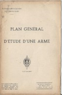 Manuel/ Ecole d�application de l�infanterie/Plan g�n�ral d��tude d�une arme /fusil semi-autom/Saint Maixent/ 1953  LIV52