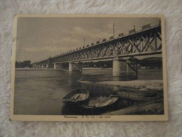 Piacenza - Il Po con i due ponti 1937