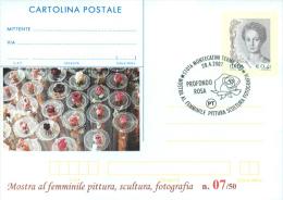 MONTECATINI TERME - MOSTRA PITTURA-SCULTURA-FOTOGRAFIA - CARTOLINA   POSTALE CON SOPRASTAMPA PRIVATA - 6. 1946-.. Repubblica