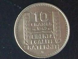 10 Francs Type  Turin Petite  Tête 1949 B - France