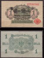 Deutsches Reich , 1 Mark , 1914 , RB-51 C , VF - [ 2] 1871-1918 : Duitse Rijk