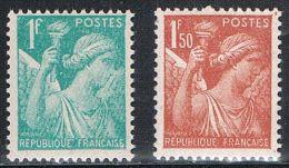 FRANCE : N° 650 Et 652 ** (Type Iris) - PRIX FIXE - - 1939-44 Iris