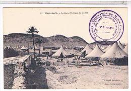 Cpa  MAROC  MARRAKECH   CAMP MILITAIRE DU GUILLIZ TAMPON MILITARIA CB371 - Marrakech