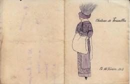 2237  Programme Château De Versaille Du 16 Février 1913 - Programmes