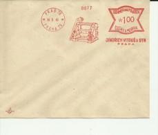 BOHMEN UND MAHREN MUESTRA FRANQUEO MECANICO 1940 PRAG PRAHA MAQUINA IMPRENTA - Bohemia Y Moravia