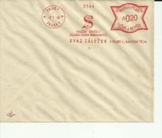 BOHMEN UND MAHREN MUESTRA FRANQUEO MECANICO 1940 PRAG PRAHA SVAZ ZALOZEN - Bohemia Y Moravia