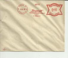 BOHMEN UND MAHREN MUESTRA FRANQUEO MECANICO 1939 PRAG PRAHA TRANSIT - Bohemia Y Moravia