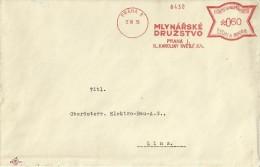 BOHMEN UND MAHREN FRANQUEO MECANICO 1939 PRAHA MLYNARSKE DRUZSTVO - Bohemia Y Moravia