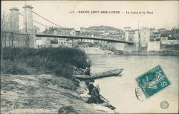 42 SAINT JUST SAINT RAMBERT / Saint Just Sur Loire, La Loire Et Le Pont / - Saint Just Saint Rambert