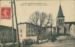 42 SAINT ROMAIN D'URFE / La Place De L'Eglise Et Du Champ De Foire / - Otros Municipios