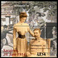 ÖSTERREICH 2014 ** Gedenken 1.Weltkrieg - Attentat Von Sarajevo / Erzherzog Franz Ferdinand U.Herzogin Sophie - Guerre Mondiale (Première)