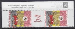 Belgium 2000 European Championship Footbal Strip 2x2v+label  ** Mnh (15700) - Europese Gedachte
